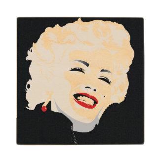 Miki Marilyn Maple Wood Coaster
