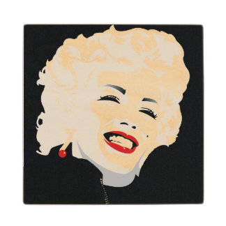 Miki Marilyn Wood Coaster