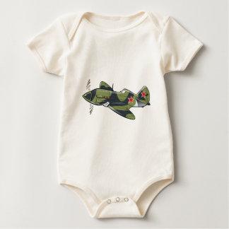mikoyan mig-3 baby bodysuit