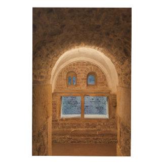 Mikve Bathhouse Interior Wood Wall Art