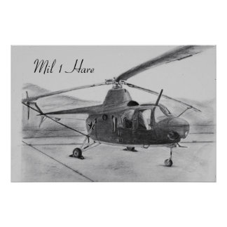 Mil 1 Hare Soviet Helicopter Poster