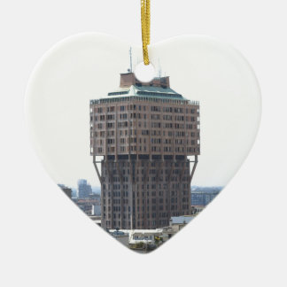 Milan aerial view ceramic heart decoration