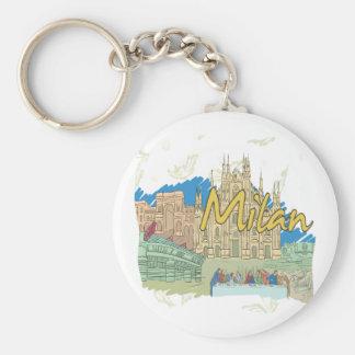 Milan Basic Round Button Key Ring