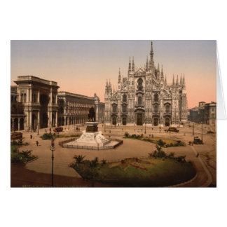 Milan Cathedral and Piazza, Lombardy, Italy Card