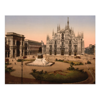 Milan Cathedral and Piazza, Lombardy, Italy Postcard
