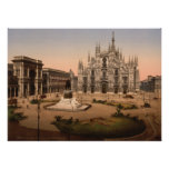 Milan Cathedral and Piazza, Lombardy, Italy Posters
