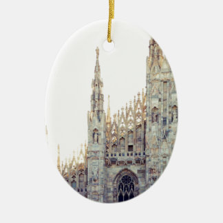 Milan Cathedral Ceramic Oval Decoration