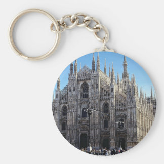 Milan Cathedral, Italy Basic Round Button Key Ring