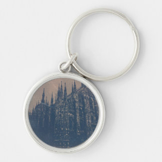 Milan Cathedral Silver-Colored Round Key Ring