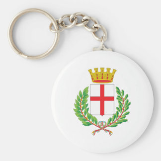 Milan Coat Of Arms Basic Round Button Key Ring