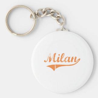 Milan Illinois Classic Design Keychain