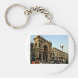 Milan Italy Basic Round Button Key Ring