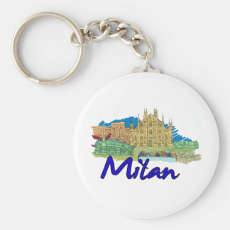 Milan - Italy.png Keychains