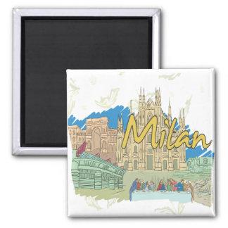 Milan Refrigerator Magnet