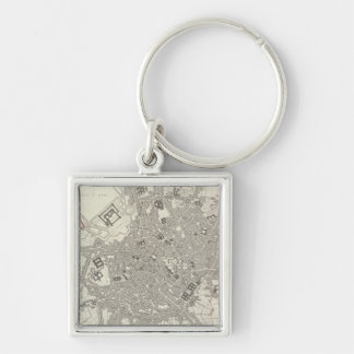Milan Milano Silver-Colored Square Key Ring