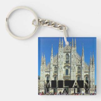 Milan Single-Sided Square Acrylic Key Ring