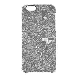 Milan Urban City Map Clear iPhone 6/6S Case