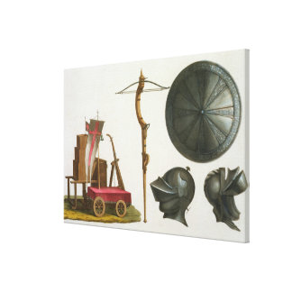 Milanese chariot, crossbow and armour, plate 17 fr canvas print