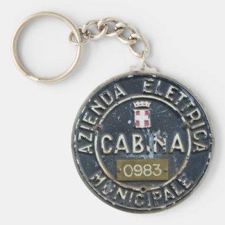 Milano Azienda Elettrica Municipale Cabina Basic Round Button Key Ring