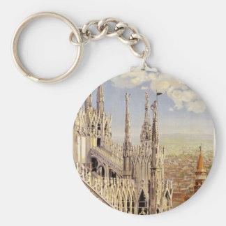 Milano Basic Round Button Key Ring