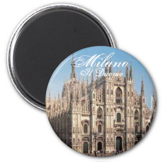 Milano_Duomo, Milano, Il Duomo 6 Cm Round Magnet
