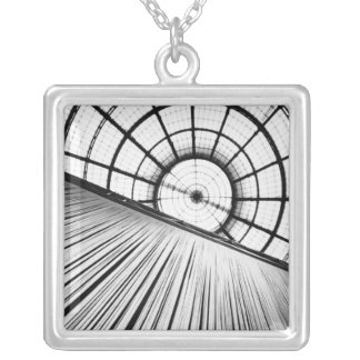 Milano Italy, Display at the Galleria Silver Plated Necklace