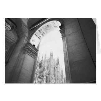 Milano Italy, Galleria View of the Duomo Card