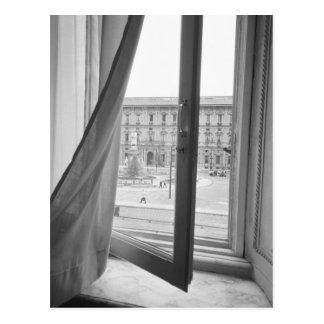 Milano Italy, View from La Scala Opera Window Postcard