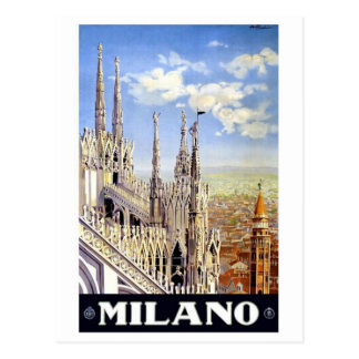 Milano Italy Vintage Travel Postcards