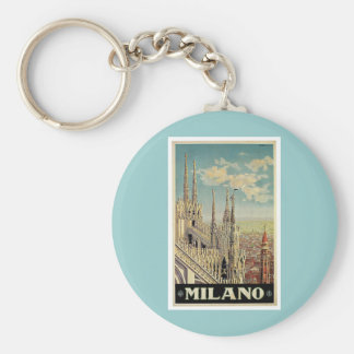 Milano Milan Italy Vintage Travel Keychain