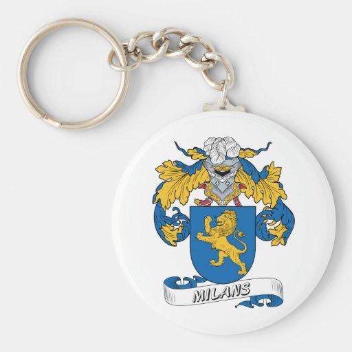 Milans Family Crest Keychain