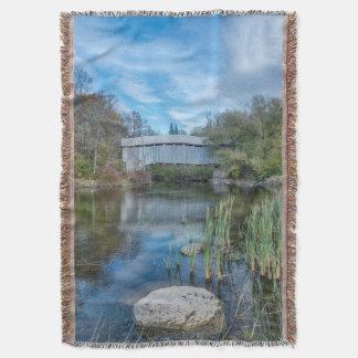 Milby Covered Bridge 2 Throw Blanket