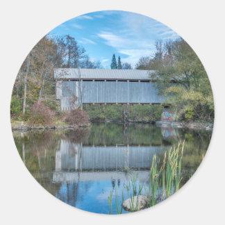 Milby Covered Bridge Classic Round Sticker