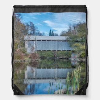 Milby Covered Bridge Drawstring Bag