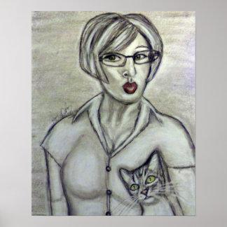 """""""Mild-Mannered"""" Denise Clark - Poster"""