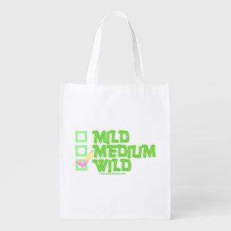 MILD, MEDIUM, WILD REUSABLE GROCERY BAG