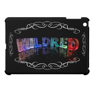 Mildred - The Name Mildred in 3D Lights (Photogra Covers For iPad Mini