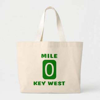 Mile 0 Key West Large Tote Bag