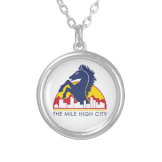 Mile High City Blue Horse Custom Necklace