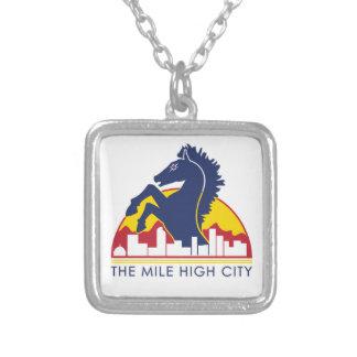 Mile High City Blue Horse Custom Jewelry