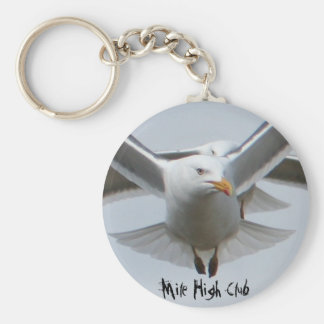 Mile High Club Basic Round Button Key Ring