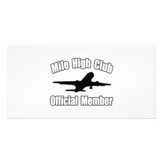 Mile High Club...Official Member Personalised Photo Card