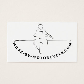 Miles By Motorcycle Generic Business Card