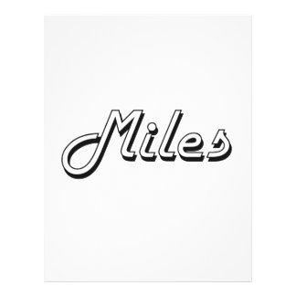 "Miles Classic Retro Name Design 8.5"" X 11"" Flyer"