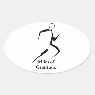 Miles of Gratitude Window Sticker