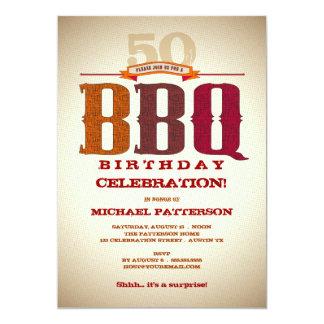 Milestone Birthday BBQ Celebration Invitation