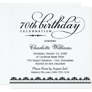 Milestone Birthday Celebration | Black Script Card