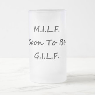 MILF Glass Frosted Glass Beer Mug