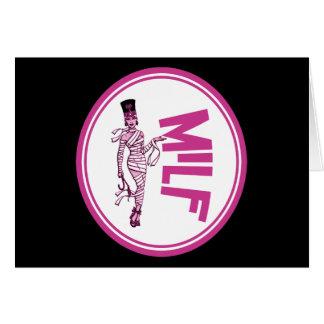 MILF Mummy Pink Greeting Card