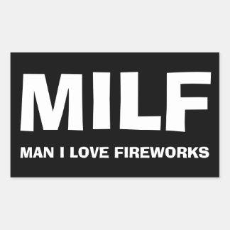 MILF - ONE I LOVE FIREWORKS RECTANGULAR STICKER